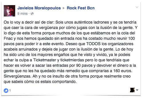 Crítica a Rock Fest Barcelona