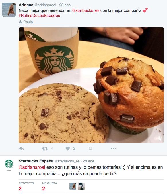 Ejemplo de embajadores y defensores de marca Starbucks