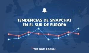 Snapchat en el sur de Europa